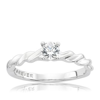 The Forever Diamond Platinum 0.33ct Solitaire Ring - Product number 3804437