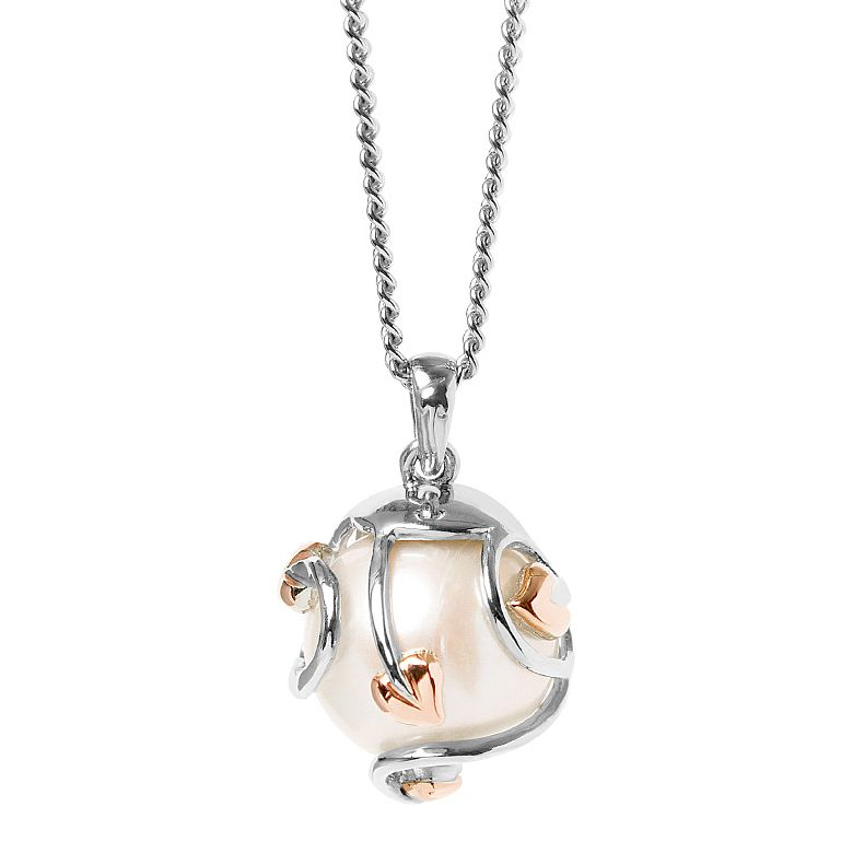 Clogau Silver and 9 ct Rose Gold Tree of Life Pearl - Product number 3805255