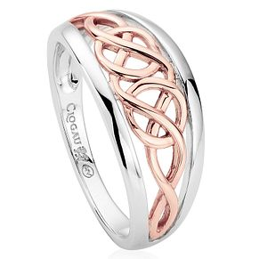 Clogau Gold Silver & 9ct Rose Gold Welsh Royalty Ring - Product number 3805719