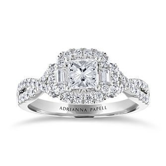 Adrianna Papell 14ct White Gold 1ct Diamond Ring - Product number 3808300