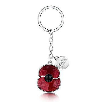 Buckley London The Poppy Collection Red Poppy Charm Keyring - Product number 3808491