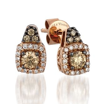 Le Vian 14ct Strawberry Gold And Chocolate Diamond Earrings - Product number 3808564