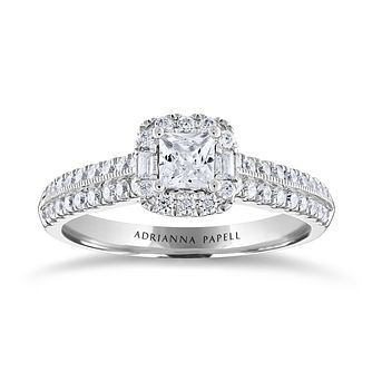 Adrianna Papell 14ct White Gold 0.75ct Diamond Ring - Product number 3808742