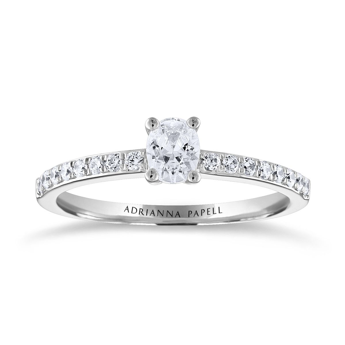 Adrianna Papell 14ct White Gold 0.50ct Total Diamond Ring - Product number 3809250