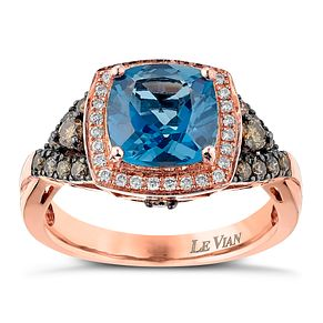 Le Vian 14ct Strawberry Gold 0.23ct Chocolate Diamond Ring - Product number 6206492