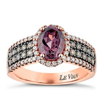 Le Vian 14ct Strawberry Gold Chocolate Diamond & Garnet ring - Product number 3811336