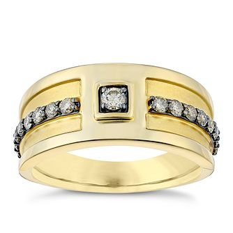Le Vian 14ct Honey Gold Men's 0.58ct Chocolate Diamond Ring - Product number 3811905