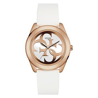 Guess Ladies' White Silicone Strap Watch - Product number 3818128