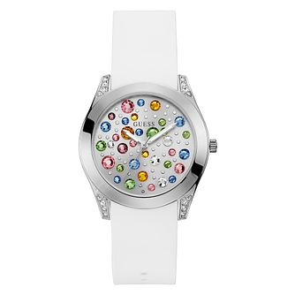 Guess Ladies' White Silicone Strap Watch - Product number 3818209