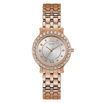 Guess Ladies' Rose Gold Plated Bracelet Watch - Product number 3819035