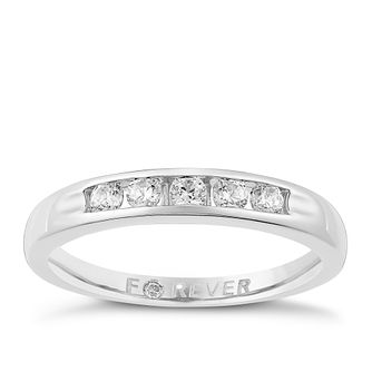 Platinum 1/4 Carat Forever Diamond Ring - Product number 3819477