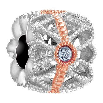 Chamilia Sea Flower rose gold-plated charm - Product number 3822982