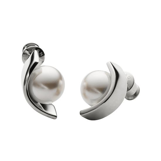 Skagen Agnethe Stainless Steel Pearl Earrings - Product number 3824985