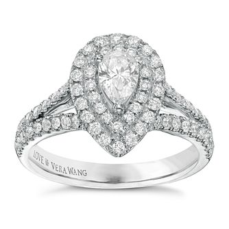 Vera Wang 18ct White Gold 0.95ct Total Diamond Ring - Product number 3826139