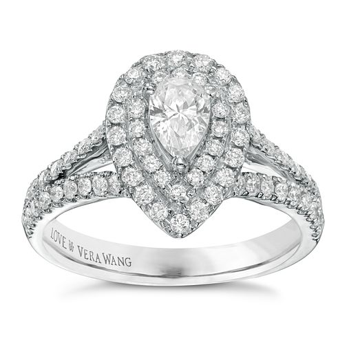 Vera Wang 18ct white gold 0.95ct H1/SI2I1 diamond ring - Product number 3826139