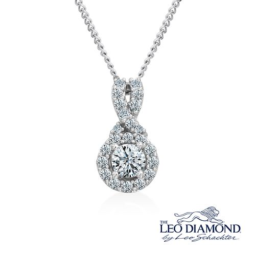 Leo Diamond 18ct white gold 1/3ct I I1 diamond pendant - Product number 3829952
