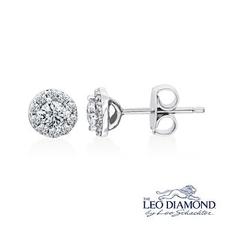 Leo Diamond 18ct White Gold 0.50ct I I1 Diamond Earrings - Product number 3829995