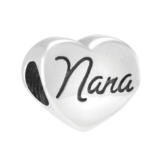 Chamilia Sterling Silver Crystal Blossom Heart Nana Charm - Product number 3830004