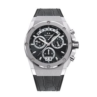 TW Steel ACE Genesis Men's Grey Leather Strap Watch - Product number 3830020