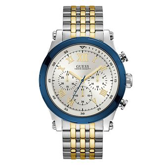 Guess Anchor Men's Two Tone Stainless Steel Bracelet Watch - Product number 3830217