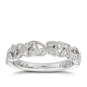 Neil Lane 14ct White Gold 0.21ct Diamond Vine Wedding band - Product number 3830888