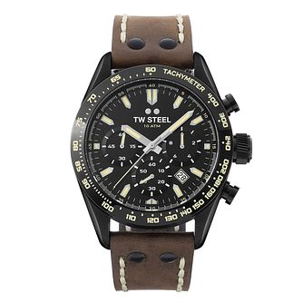 TW Steel Chrono Sport Men's Brown Leather Strap Watch - Product number 3833097