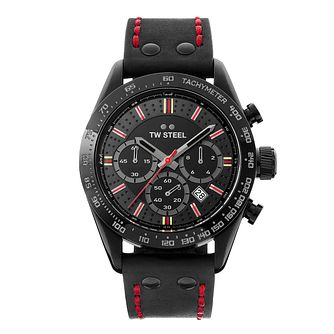 TW Steel Chrono Sport Men's Black Leather Strap Watch - Product number 3833151