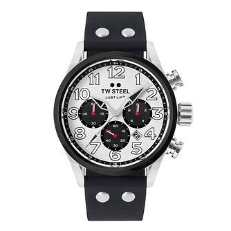 TW Steel Panda Men's Chronograph Black Silicone Strap Watch - Product number 3833399