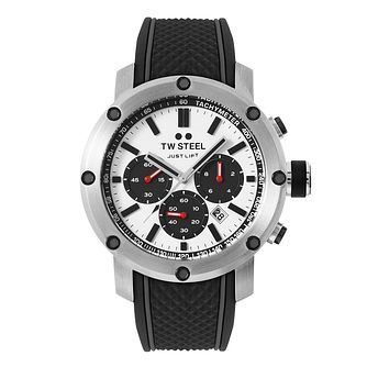 TW Steel Panda Men's Chronograph Black Silicone Strap Watch - Product number 3833623