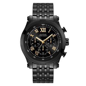 Guess Anchor Men's Black Stainless Steel Bracelet Watch - Product number 3834549