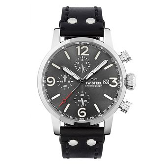 TW Steel Maverick Men's Black Leather Strap Watch - Product number 3834867