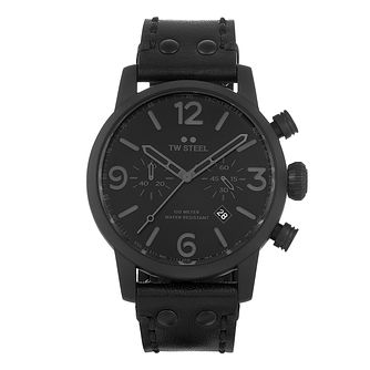 TW Steel Maverick Men's Black Leather Strap Watch - Product number 3834883