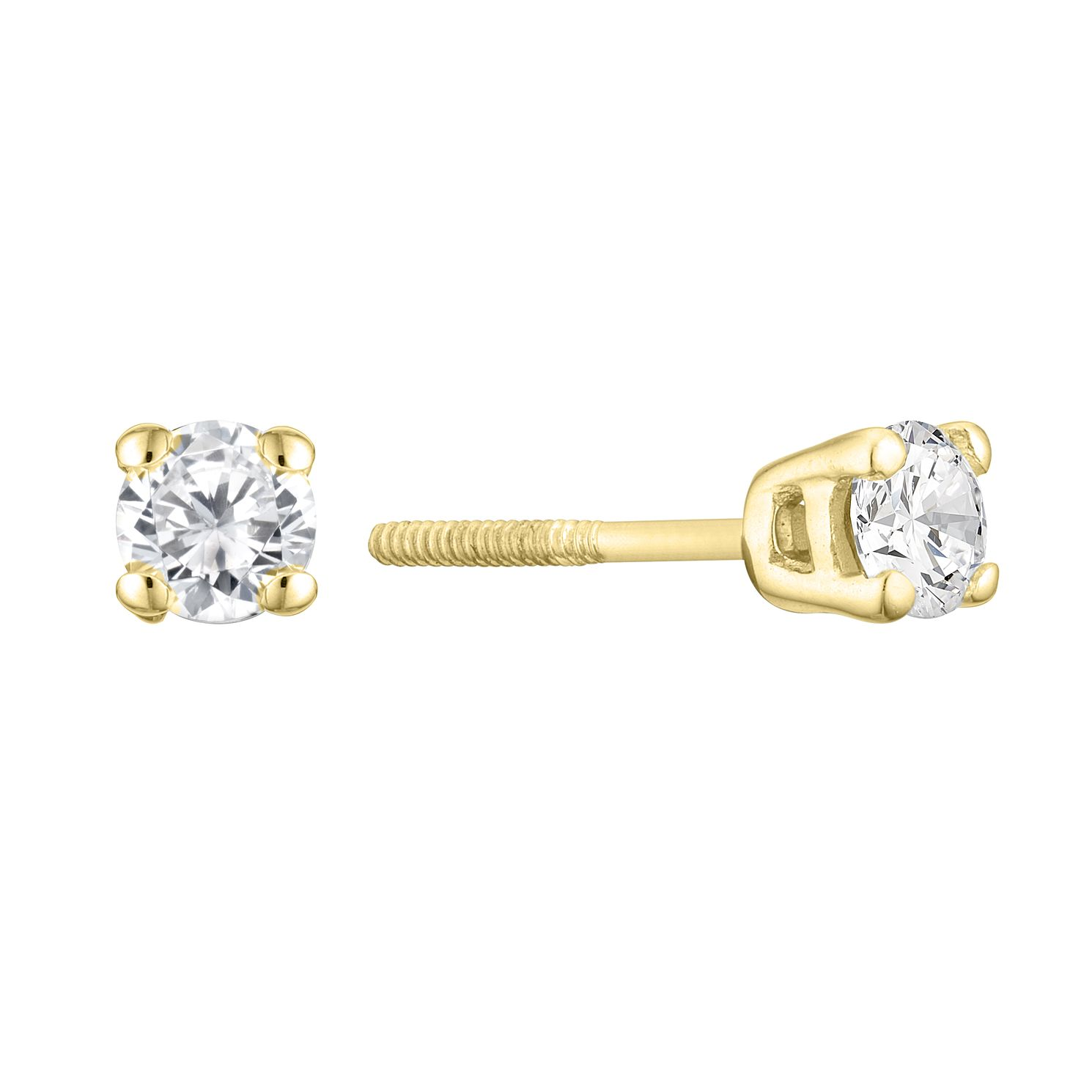 9ct Yellow Gold 0.15ct Diamond Stud Earrings - Product number 3836762