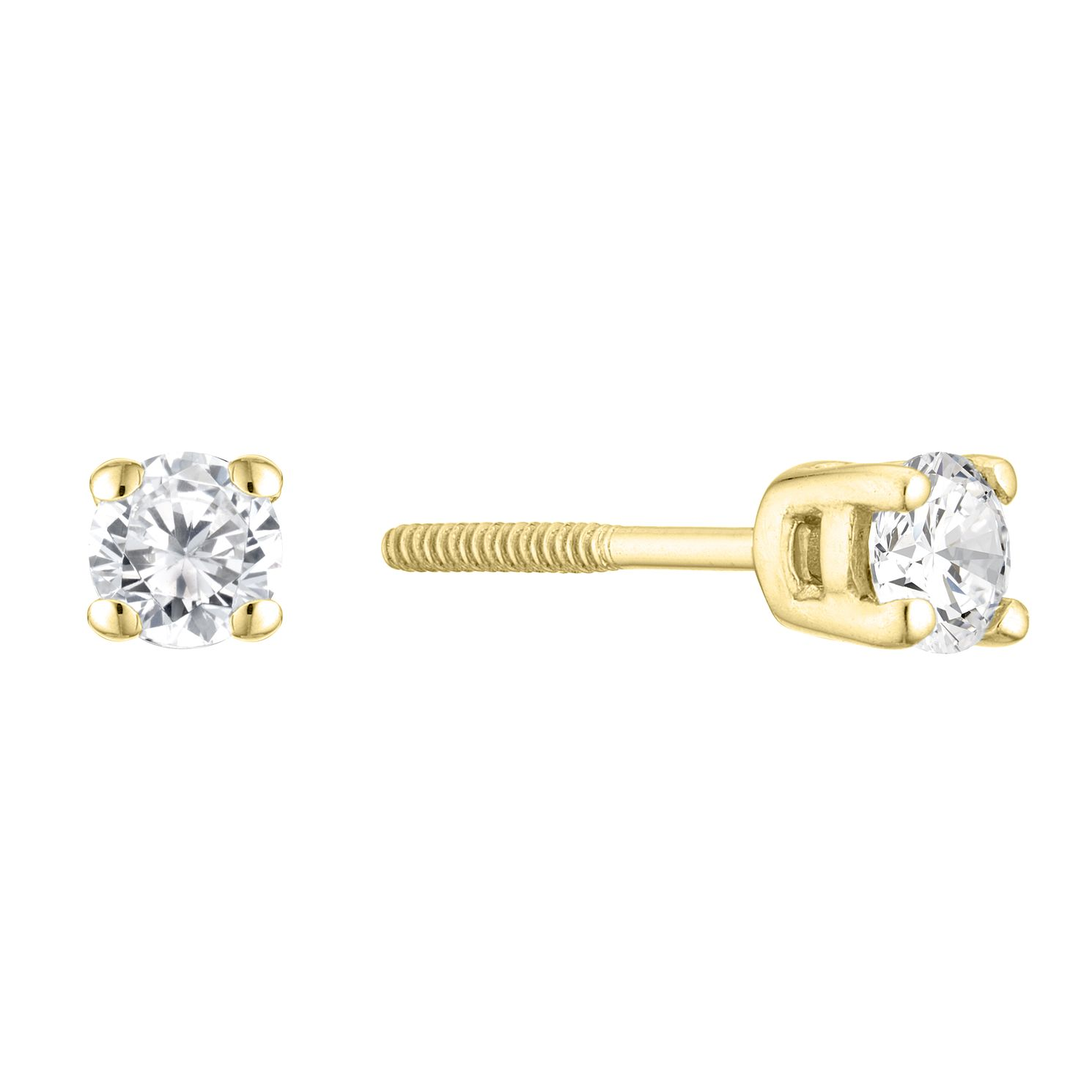 9ct White Gold 1/4ct Diamond Solitaire Stud Earrings - Product number 3836827
