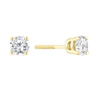 9ct Yellow Gold 1/2ct Diamond Solitaire Stud Earrings - Product number 3836886