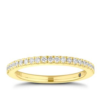 Vera Wang 18ct Yellow Gold 0.23ct Diamond Wedding Band - Product number 3839230