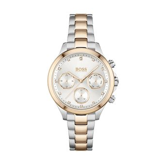 BOSS Hera Crystal Ladies' Two Tone Bracelet Watch - Product number 3847454