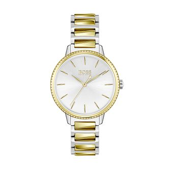 BOSS Signature Crystal Ladies' Two Tone Bracelet Watch - Product number 3847632