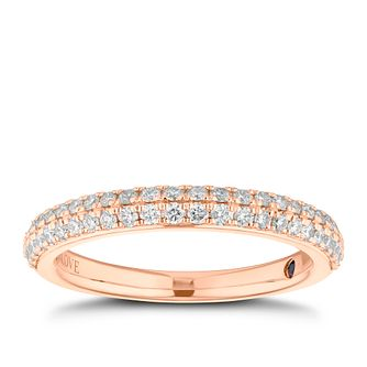 Vera Wang 18ct rose gold 0.37CT diamond wedding band - Product number 3849376