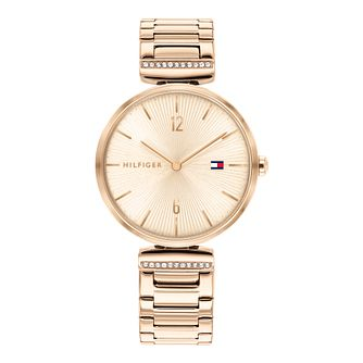 Tommy Hilfiger Aria Ladies' Rose Gold Tone Bracelet Watch - Product number 3851133