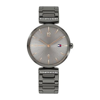Tommy Hilfiger Aria Ladies' Grey IP Bracelet Watch - Product number 3852431