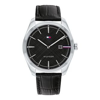 Tommy Hilfiger Theo Men's Black Leather Strap Watch - Product number 3852857