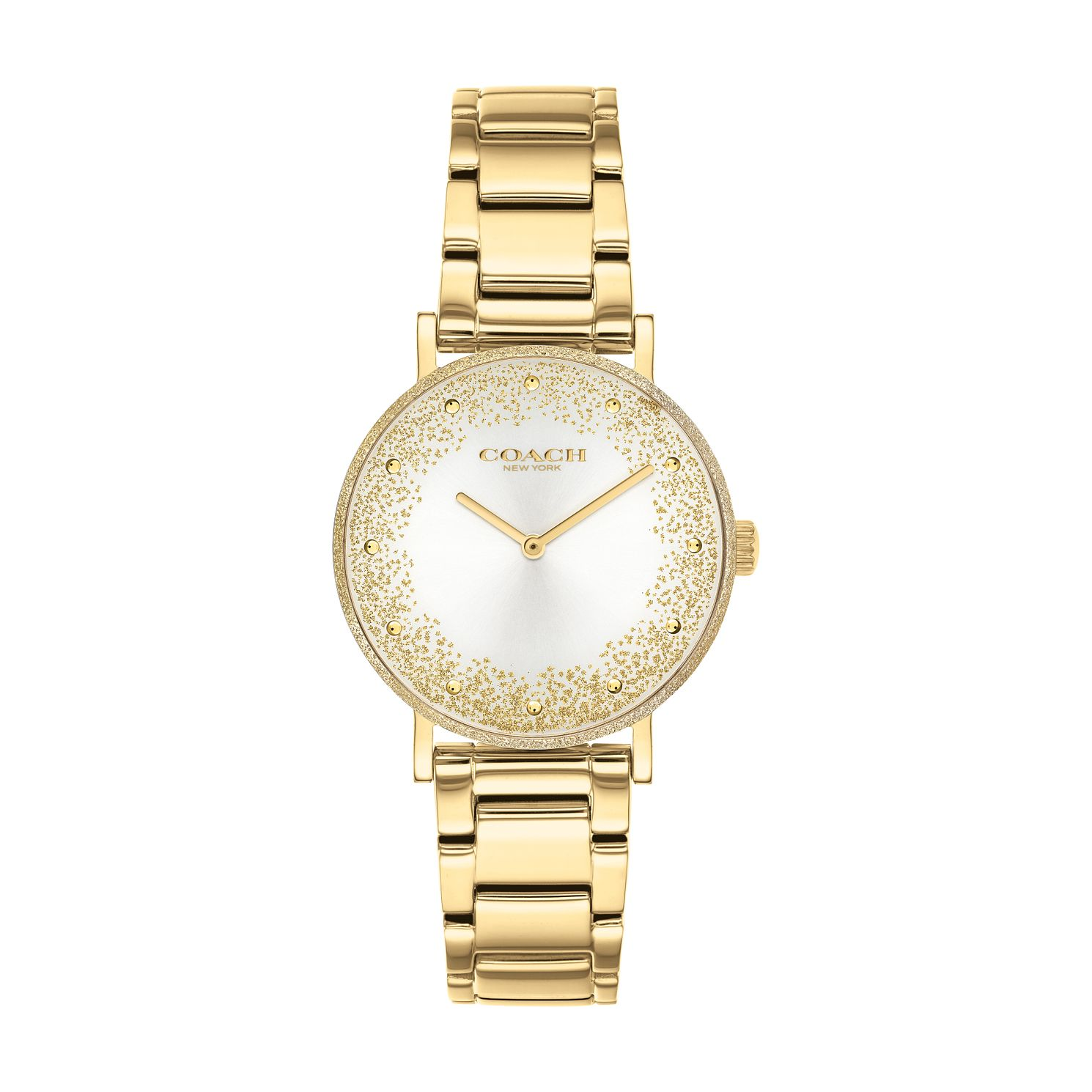 Coach Perry Glitter Ladies' Yellow Gold Tone Bracelet Watch - Product number 3854639