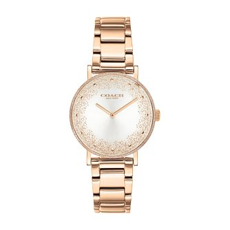 Coach Perry Glitter Ladies' Rose Gold Tone Bracelet Watch - Product number 3854647