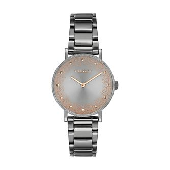 Coach Perry Glitter Ladies' Grey IP Bracelet Watch - Product number 3854655