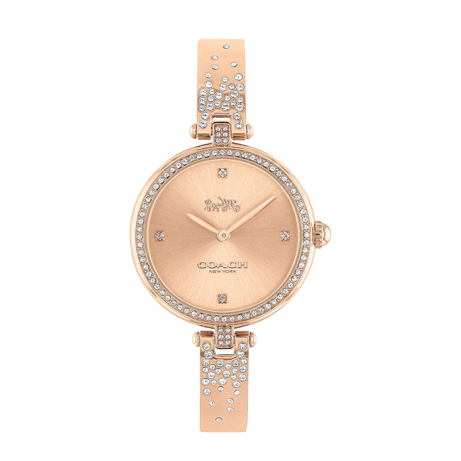 Coach Park Crystal Ladies' Rose Gold Tone Bangle Watch - Product number 3854760
