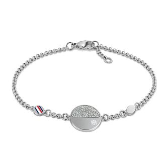 Tommy Hilfiger Crystal Disc Stainless Steel Bracelet - Product number 3855007