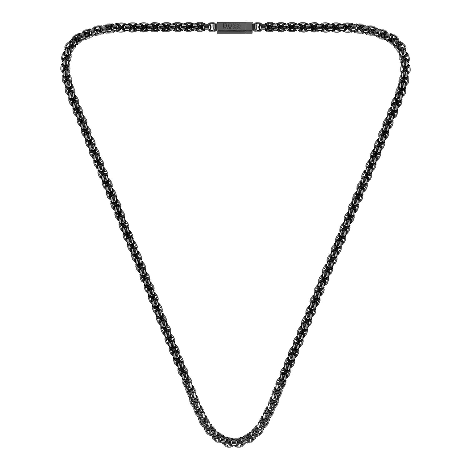 BOSS Turf Men's Grey Ion-Plated Necklace - Product number 3856224