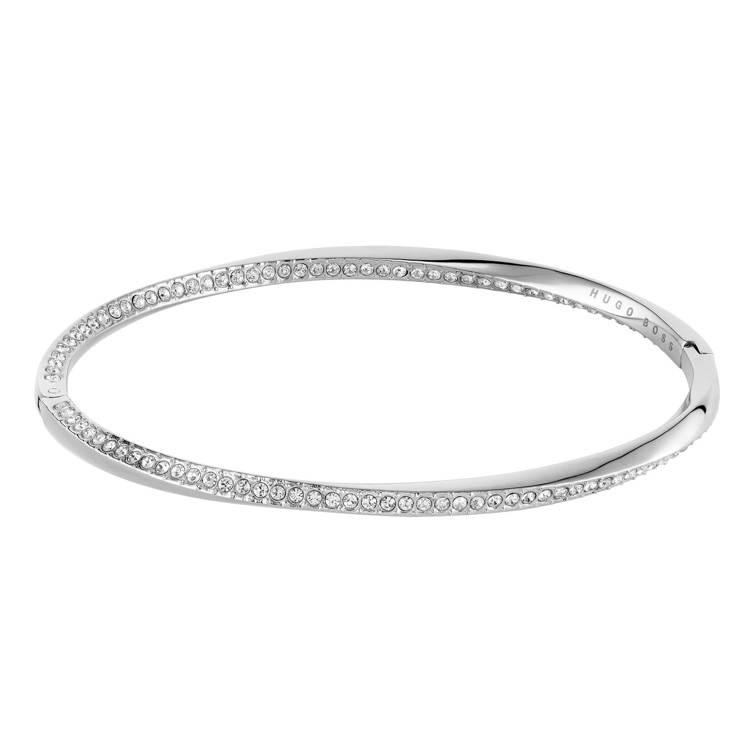 BOSS Signature Crystal Ladies' Stainless Steel Bangle - Product number 3856283