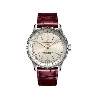 Breitling Navitimer Automatic 35 Ladies' Leather Strap Watch - Product number 3863190